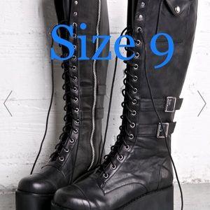 Current Mood Jane Doe Platform Knee-high Boots